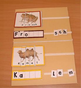 mappenaufgabe mit buchstaben schreiben